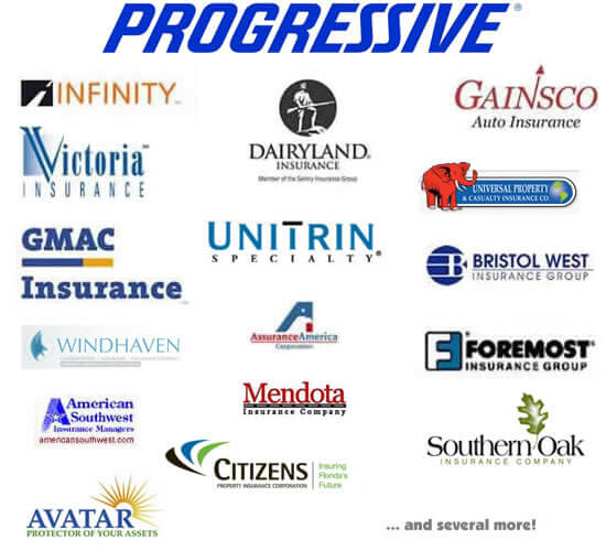 Insurance Companies  Progressive \/ Infinity \/ GMAC \/ Foremost \/ More
